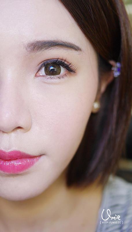 20150115 makeup pink x brown 粉紅x咖啡眼影